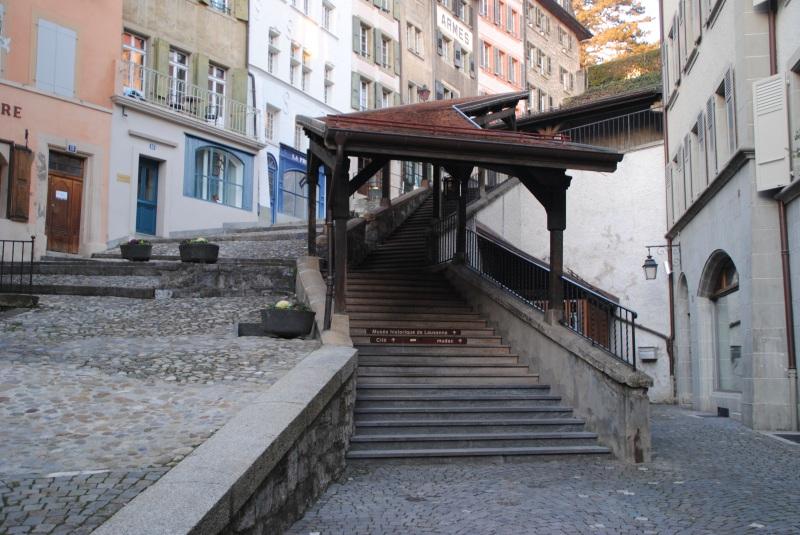 escalier lausanne visiter