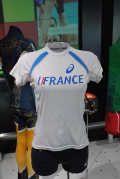 Un maillot dans le musée olympique.