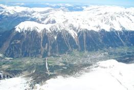 Vue sur Chamonix