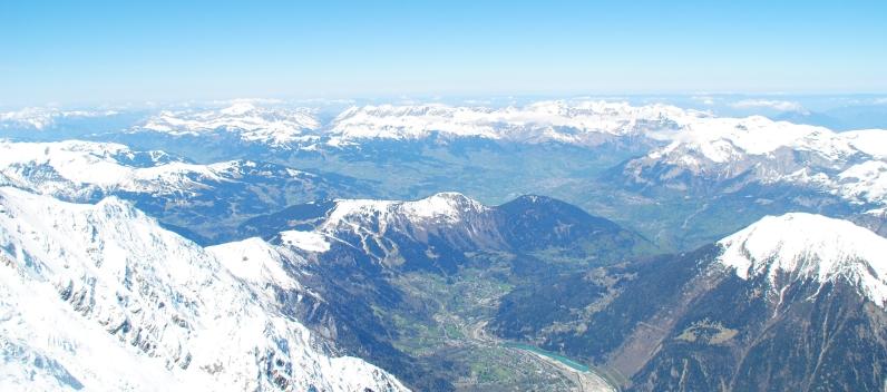 Vue depuis l'Aiguille du Midi.