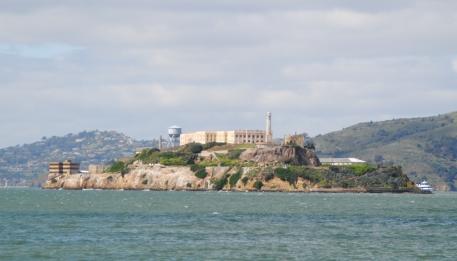 La prison d'Alcatraz, dans la baie de San Francisco.