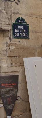 La rue Chat qui pêche est à Paris.