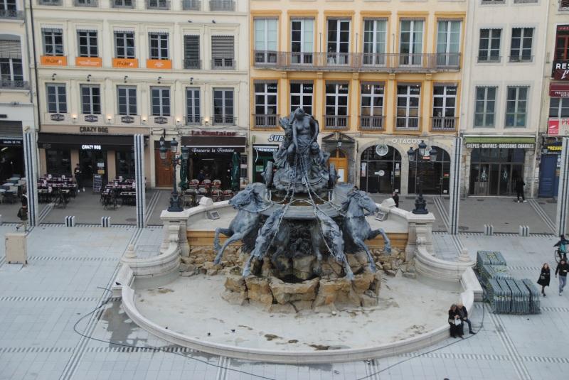 La fontaine conçue par Bartholdi